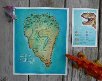 Map of Isla Nublar (novel version)
