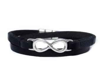 Infinity leather bracelet Infinity Couple bracelets  Leather bracelet Men leather bracelet Couple bracelets Infinity bracelet His and hers