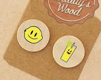 Life Gives You Lemon Earrings Make Lemonade Earrings Clip On Earrings Clip-On Earring Pierced Earrings Gift for Hard Time Encouragement Gift