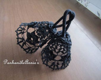 Handmade Crocheted Rose Bells