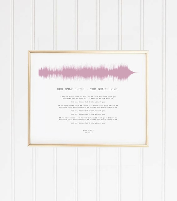 Landscape sound wave song with lyrics personalised print stopboris Image collections