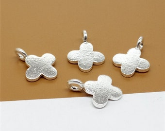 5 Karen Hill Tribe Silver Cross Charms, Higher Silver Content than Sterling Silver - TR1361