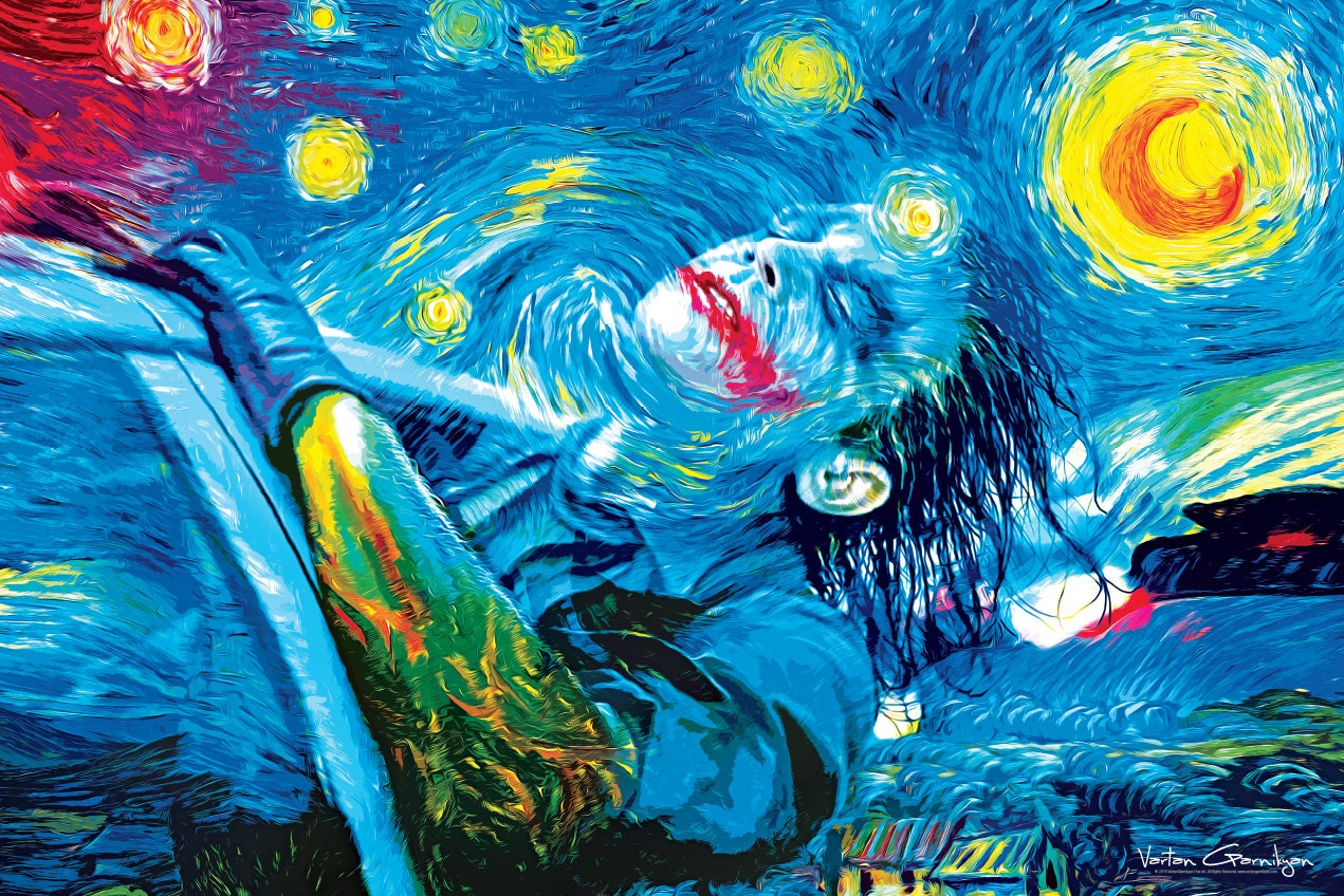 The Starry Knight 36 inch x 24 inch large poster Van Gogh