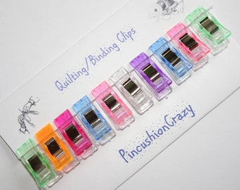 Mini Clips - Quilting Binding Clips - Gift for Sewer or Quilter - Guild Gift Exchange - Retreat Gifts - Sewing Accessory - Girlfriend Gift
