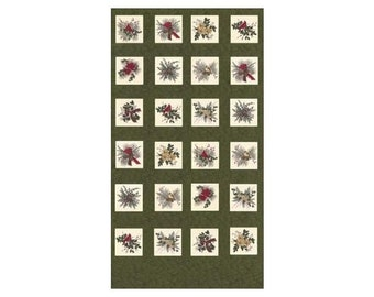 Clearance Sale~Forever Green ~Panel Green 24in x 44incotton Fabric 6690-15 By Moda