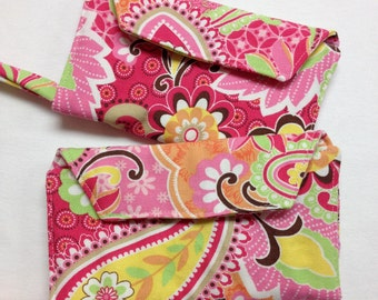 The Pink Paisley: Pink and Spring-Colored Paisley Cell Phone Wallet