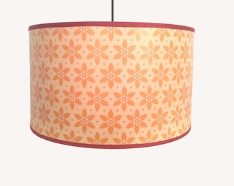 LAMPSHADE PATTERN VINTAGE FLOWERS YELLOW