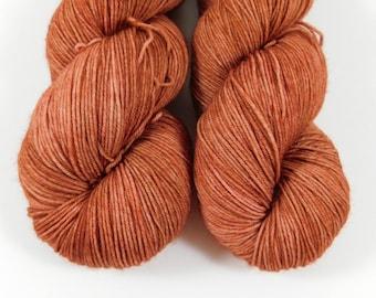 Flowerpot, QCC Yarn, Squooshy Cat Yarn, Fingering Weight Yarn, Merino Wool, Terracotta