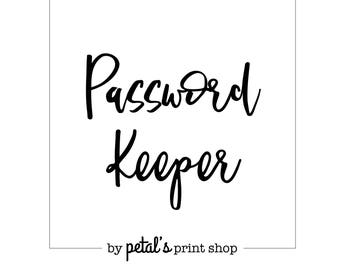 Alphabetised Password Keeper Notebook (7 Sizes: Printed)