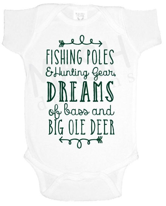 Hunting and fishing baby one piece baby shower gift southern for Hunting and fishing gifts