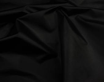 "60"" wide Black Packcloth 420 Denier Nylon Water Resistant  fabric per yard"