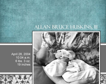 Adoption or Birth Announcement Design, CUSTOM for YOU - 4x6 or 5x7 photo card