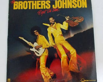 The Brothers Johnson Right on Time Vinyl LP Record A&M SP-4644