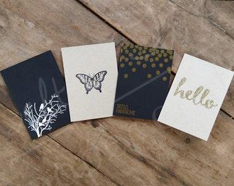 SET OF 4 - Mini Cards - Multiple Options