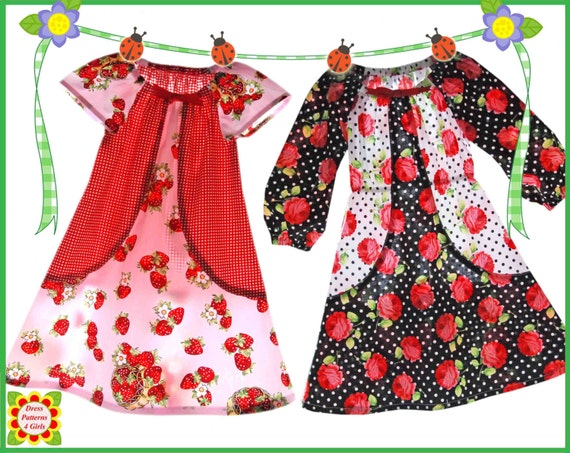 Tulip Peasant Dress Pattern for Girls + Free Mother-Daughter Apron ...