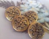 Brass Clover Button. Twin...