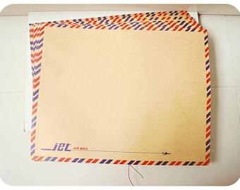 Brown Air mail envelopes