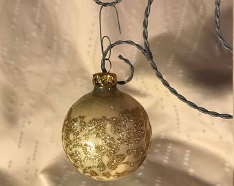 Set of Four Victoria Glass Ball Ornaments in Original Box