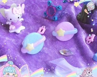 Space adventure rings earrings fairy space kei