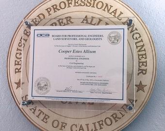 Custom Diploma or Professional License Frame