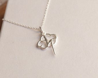 Cloud And Thunder Necklace - Storm Necklace - Thor Necklace , Sterling Silver