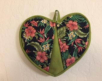 Potholder -Hawaiian floral