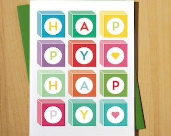 Happy Happy Greeting Card