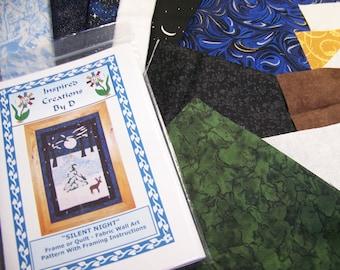 SILENT NIGHT - Art Quilt Pattern Kit