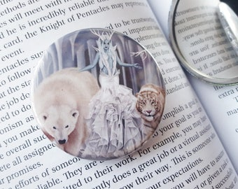 Pocket Mirror - Winter Queen Snow Witch Tiger Polar Bear