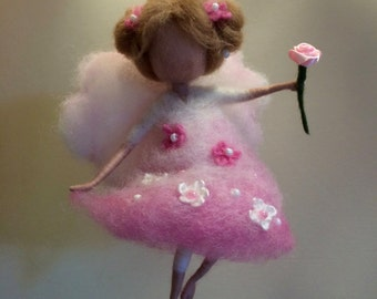 Needle felted Angel, Waldorf inspired,  Wool Fairy, Home decor, children room, Art doll, Doll miniature, Felted fairy, nursery