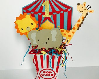 Circus Party Centerpiece, Carnival Birthday Centerpiece, Circus Birthday, 1st Birthday