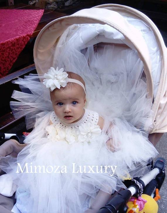 Ivory Flower girl dress, ivory tulle dress, ivory bridesmaid dress, ivory girl wedding dress, ivory themed wedding, cream flower girl dress