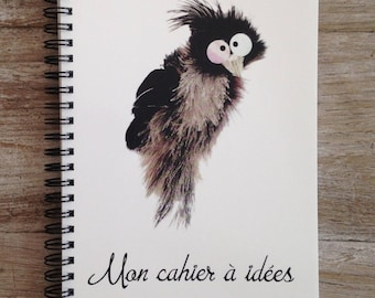 Notebook ideas with bird talker