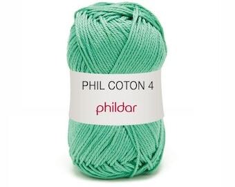 thread phildar PHIL thread cotton 4 Mint Alabaster
