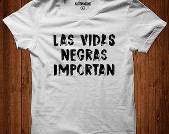 Las Vidas Negras Importan, Latin Pride Tshirt, Afro Latina Pride Shirt, Lives Matter Top