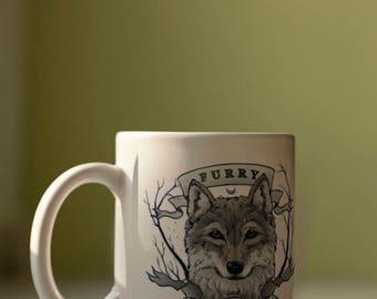Furry and Proud - Mug