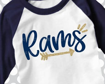 Rams svg, Arrow svg, Rams Cut File, Rams printable iron on, Ram svg, Silhouette, Printable iron on, Digital Download, Cricut, dxf, football