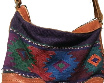 Vintage Leather Mexican Boho Style Crossbody