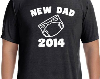 New Dad Mens T shirt New Dad 2014 T-shirt Husband Gift Tshirt Fathers Day Gift Dad  Day Gift