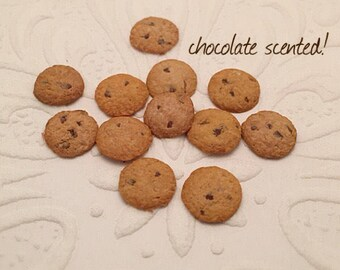 SCENTED - 12 PIECES Dollhouse Cookies, Dollhouse Cookies, Dollhouse Sweets, Dollhouse Food, Miniature Cookies, Dollhouse Miniature Food