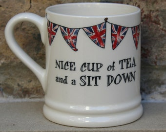 Nice Cup of Tea and a Sit Down OR Nice Cup of Tea and a Piece of Battenburg mug
