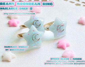 Dreamy & Quartz Moonbeam Ring | Fairy Kei Ring