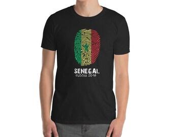 Senegal Soccer T Shirt Fingerprint 2018 Senegal Jersey