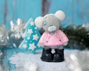 Teddy bear soap, Handmade Cute soap, Bear figure, 3d soap, Bathroom decor, soap toy, сute souvenir, soaps for gifts, Teddy girl, soap favors