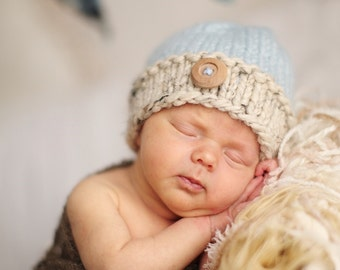 Newborn Photography Prop, Newborn Hat, Photography Prop, Neutral Prop, Knit Hat, Newborn Photo Prop