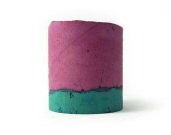 Concrete Vessel with Strawberry Palette