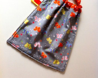 Elastic cotton and sponge pattern Butterfly towel bibs