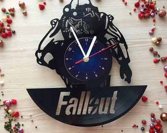 Fallout 4 Vinyl Record Wall Clock Size 12 inches / 30 cm fallout gifts for boys bedroom decor art fallout for you