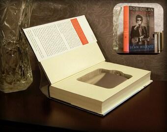Hollow Book Safe & Flask - Bob Dylan in America - Secret Book Safe