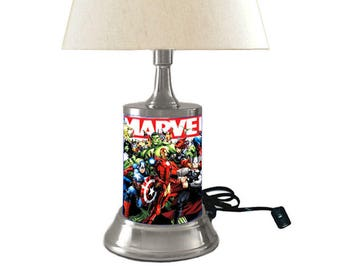 Marvel Comics Characters Lamp With Shade